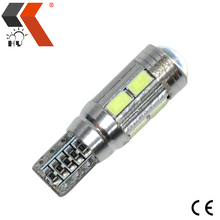 Cheap super bright car t10 w5w 168 canbus 5630 10smd led lamp with lens auto led bulb light great