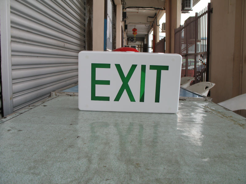 Box Type LED EXIT Sign Single Face