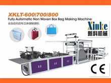 High quality best sale non-woven recycle box bag making machine