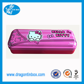 Custom printed Hello Kitty tin pencil case from China supplier/student pencil boxes