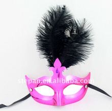The Little Princess Ostrich Feathers Venice Carnival Mask For Kids/Adults TZ-B15