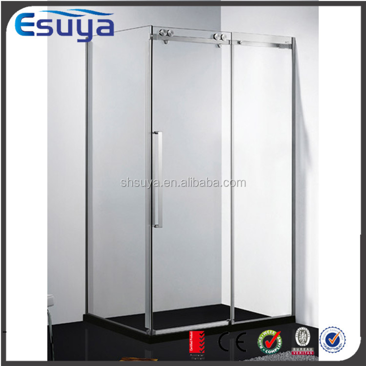 Shanghai Esuya 2015 promote frame sliding door complete 2 person corner 3 sided shower room, shower enclosure