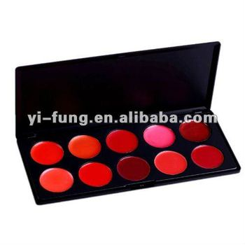New 10 Color Lip Gloss Palette Make Up Brown Style 1#