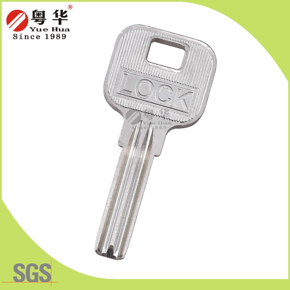 2016 new arrival products blank door key for cylinder lock with custom shape and logo for locksmiths