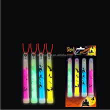 Wholesale party favor flashing toy colorful halloween 4-pcs Set 6 inch glow sticks with print