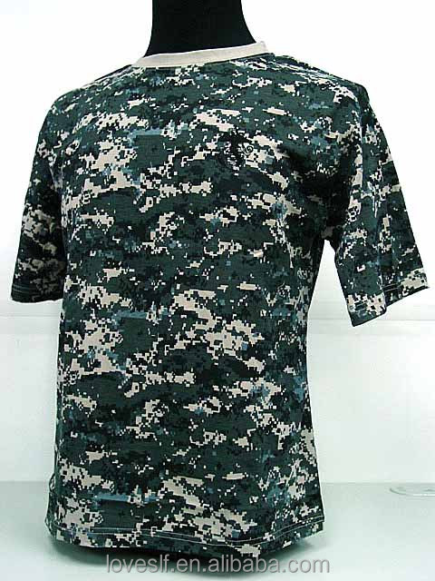 Wholesale camouflage cotton colors army training camouflage T-shirt factory supplier