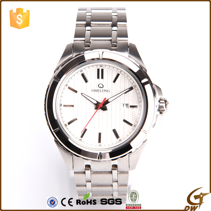 Trade Assurance quartz movement watch 5atm water resistant stainless steel watch