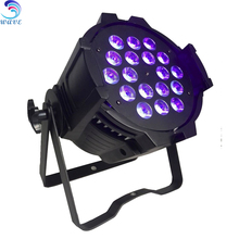 indoor Dj 18 pcs rgbaw uv 6 in 1 leds dmx 512 disco bar stage par 64 can light