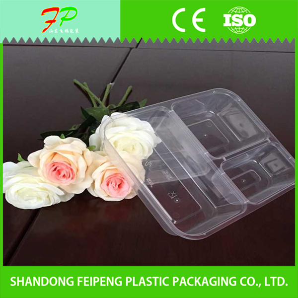 Cheap Transparent Plastic Packaging Box for Fast Food