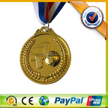 Hot Sale Basketball Award Metal Medal Custom Sports Medals