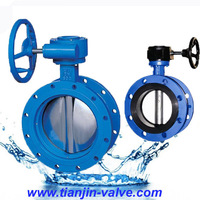 wafer type worm gear butterfly valve water used