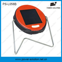 portable LED solar powered reading light with 2 brightness lifePO4 battery