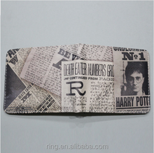 Movie Style New Design Women Men Leather PU Short Wallet Coin Purse