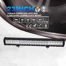 Auto Accessories 12v 24v 240w 23inch 5d Led Light Bar for Truck 4x4