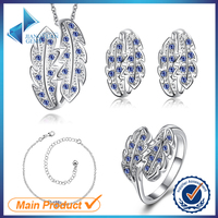 2015 colorful Euro and USA market brass luxury jewelry set