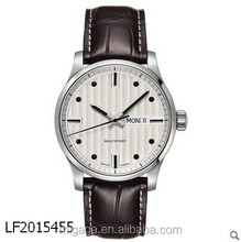 China manufacturer classic watch, leather strap watch for men stainless steel watches