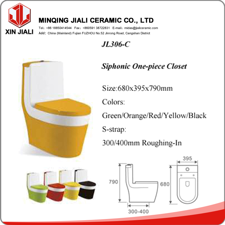 Chinese WC Toilet,Colored Toilet,Bathroom Toilet