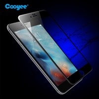2016 fullcover carbon fiber 0.33mm anti-scratch 9h hardness tempered glass screen protector for iPhone 6S