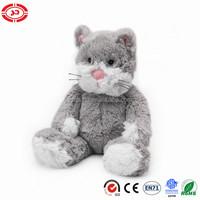 Cozy plush grey soft stuffed cat sitting animal gift toy