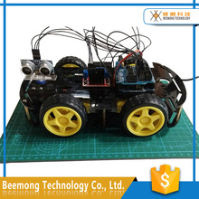 Arduinos Educational Mini Breadboard 4WD Smart Robot Car Chassis Kit for Kids with Arduinos Uno R3