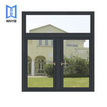 High Quality Aluminum Frames American Style Double Tempered Hollow Glass Casement Window For Kitchen