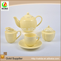 Chinese commercial ceramic porcelain tea pot custom colorful tea cups set chinese tea set