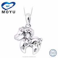 fashion jewelry silver pendant in 925 sterling silver solid silver factory price fast delivery