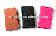 2015 genuine leather pu folio case with card slot for iphone5 and iphone 6