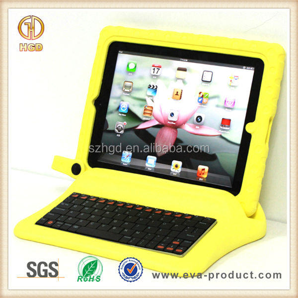 big grips foam frame and stand with wireless bluetooth keyboard case for ipad 3