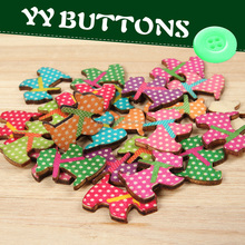 cute two holes flatback dalmatian dog bulk wooden button craft