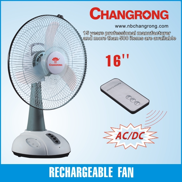 16inch rechargeable table fan with mobile charge led light
