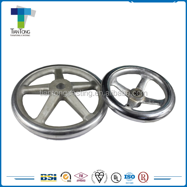 OEM easily polished decorative finishes stainless steel hand wheel