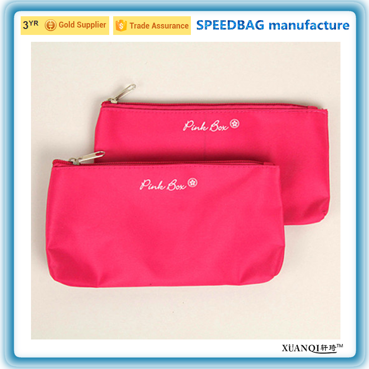 promotion red zipper cosmetic bag lady handbag travel toiletry bag