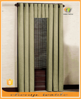 New high quality sun-stop linen blackout office curtain with eyelets valance
