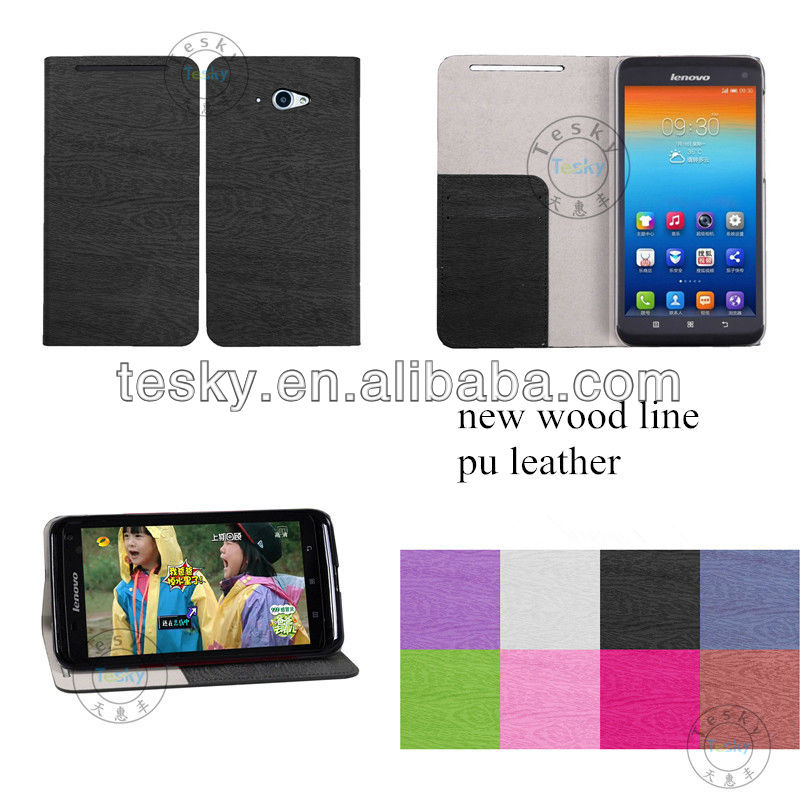 For Lenovo S930 Cell Phone Folio Flip Leather Case Stand Cover Sleeve