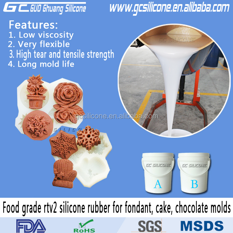 high quality food safe silicone mold making rubber for cake mould