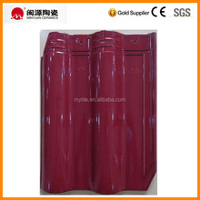 Glazed color ceramic roof tile for cambodia