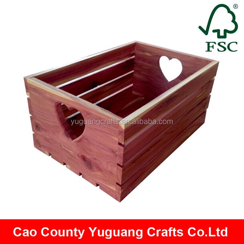 Alibaba China Large Wood Crate Box Red Wooden Crates Wholesale