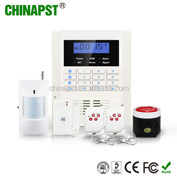 New design dual network GSM + PSTN home Security GSM Alarm System with 99 wirless zones PST-PG992CQ