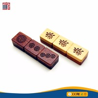 4gb Customized LOGO Wood USB 2.0 Flash Drive Personalized Gifts