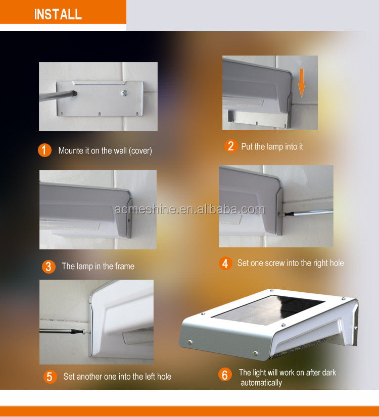 2 Working Model Outdoor Motion Sensor Wall Light With Lowes Solar ...
