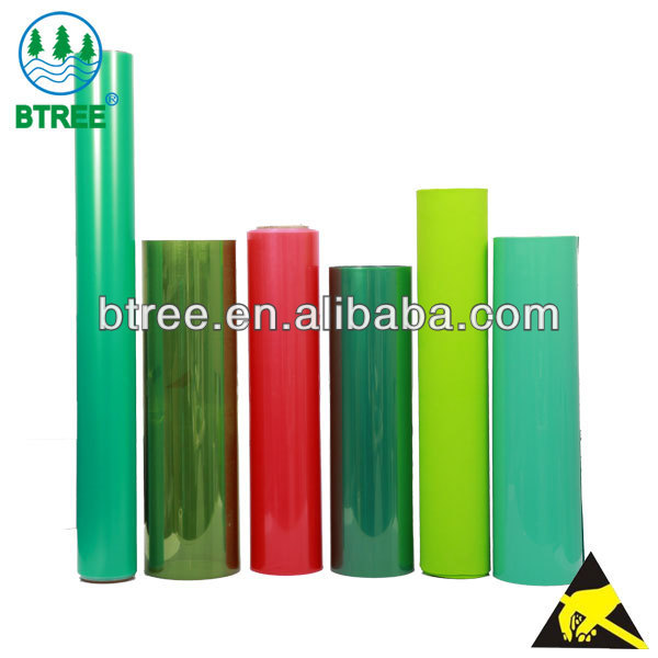 Btree Antistatic Transparent Colored Plastic Sheets For Electronic Trays