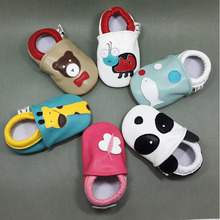 Leather toddler shoes animal series soft bottom prevent baby shoe MT108397
