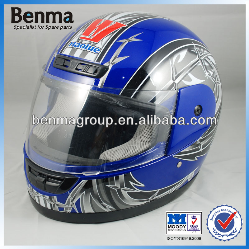 Modern Helmet Full Face for Motorcycle, High Strength Full Face Motorcycle Helmet with Scarf!