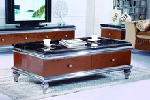 Wholesale best price onyx marble coffee table with drawers CT052