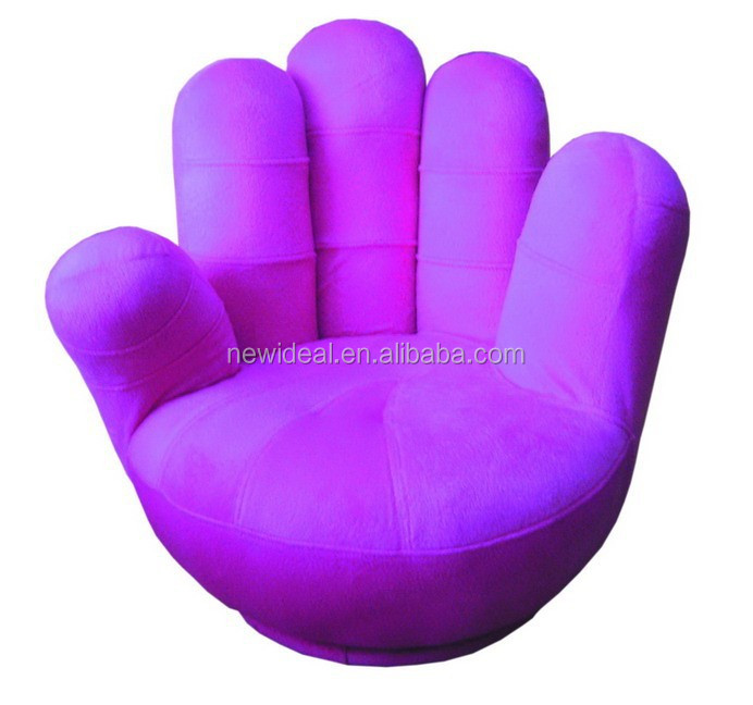 Comfortable fabric hand shaped chair for children (NO68)
