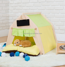 Wholesales Wood Outdoor Washable Portable Pet Dog Fabric Teepee Tents/Cat Teepee