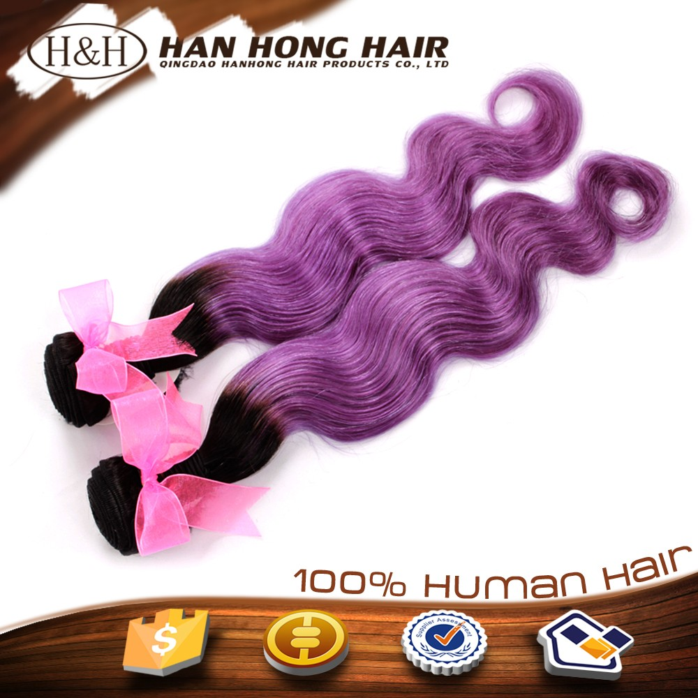 No Chemical Processed Blossom Bundles Virgin Hair purple human hair weave