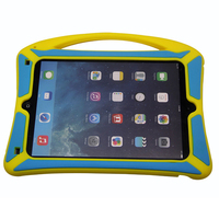 With Handle Rugged Heavy Duty Kid Proof Tablet Case Silicone Protective Case for iPad air 2