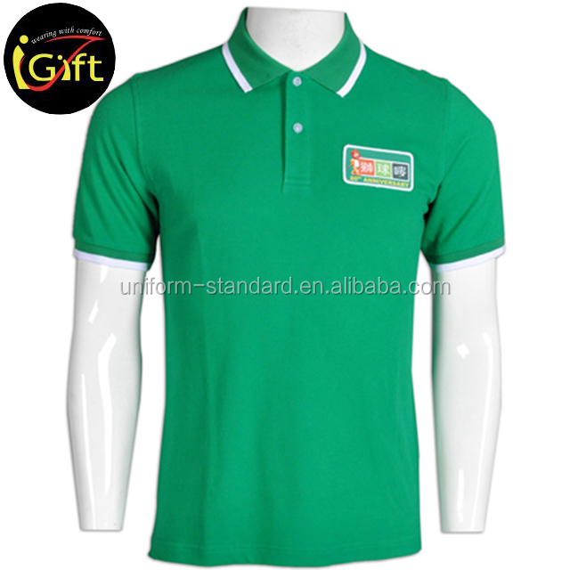 Hot Sale High Quality Ribbed Collar Cheap Custom Branded Bowling Polo Shirts